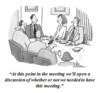 unnecessary meetings